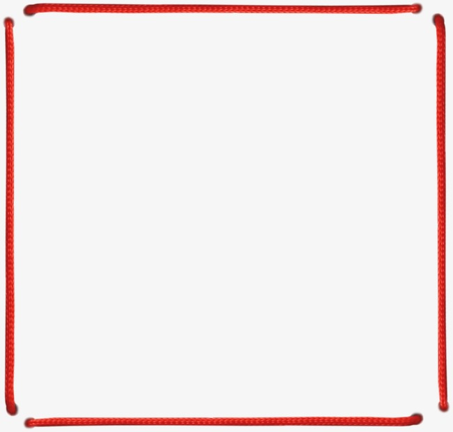 Rope clipart rectangle. Rectangular red material png