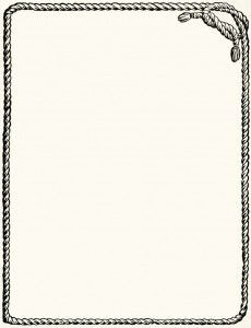 Rope clipart rectangle. Frame free vintage digital