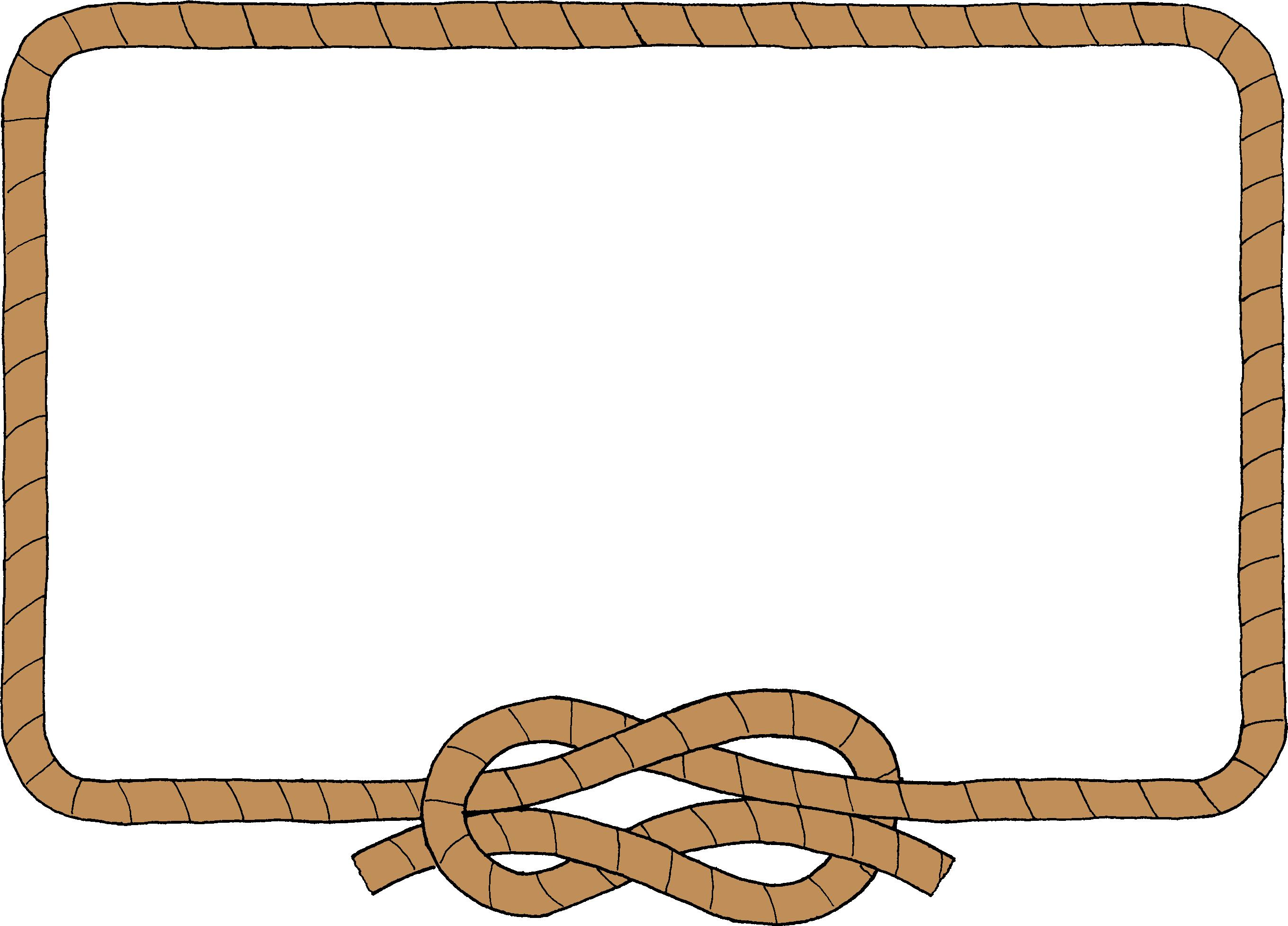 Rope clipart rectangle. Cowboy border free collection