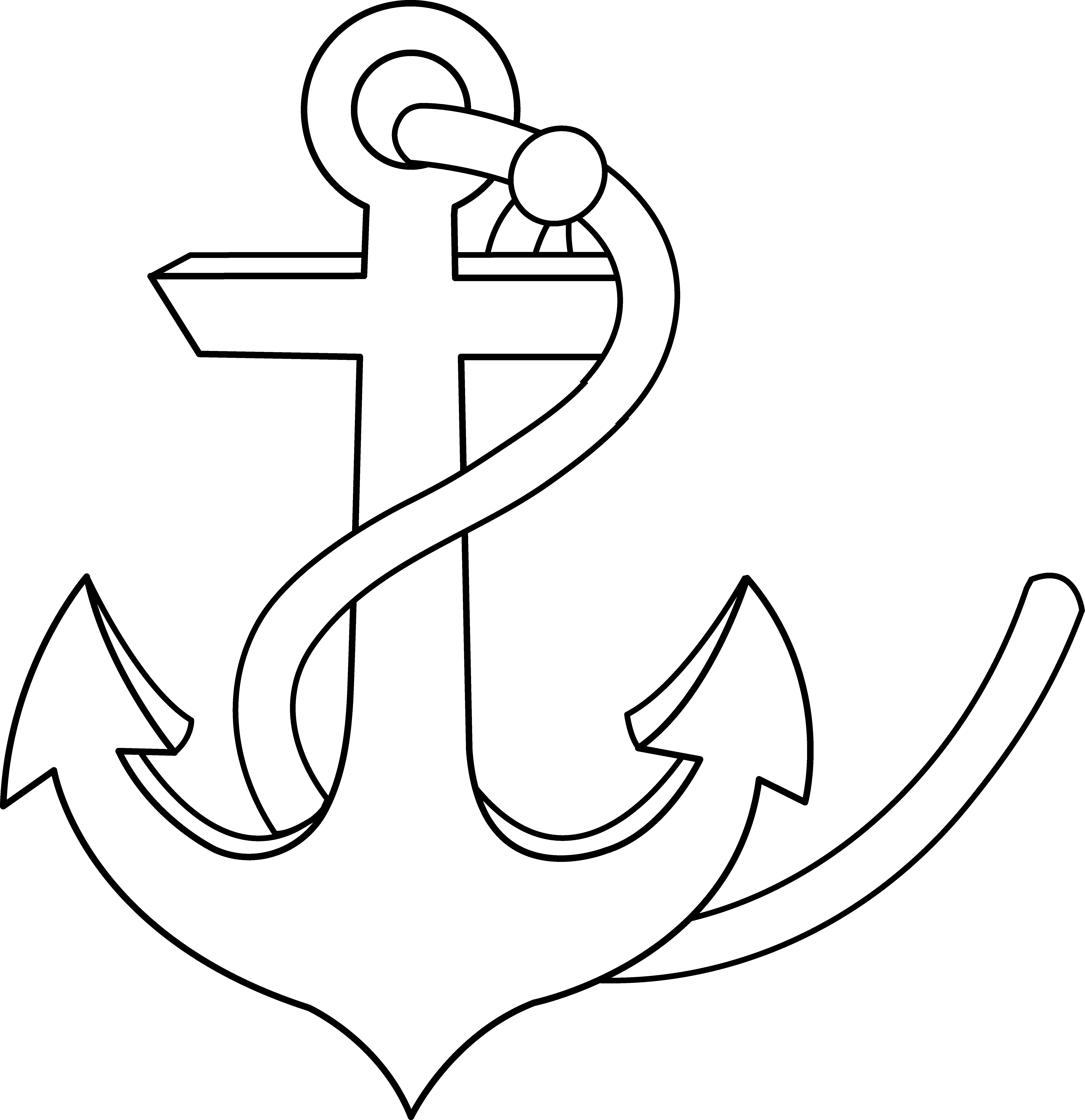 Rope clipart sea. Free anchor images download