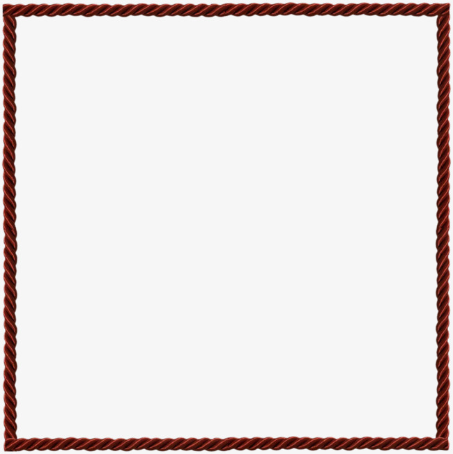 Rope clipart square. Twisted red border png
