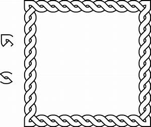 Rope clipart square. Frame pencil and in