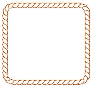 Rope clipart square. Pencil and in color