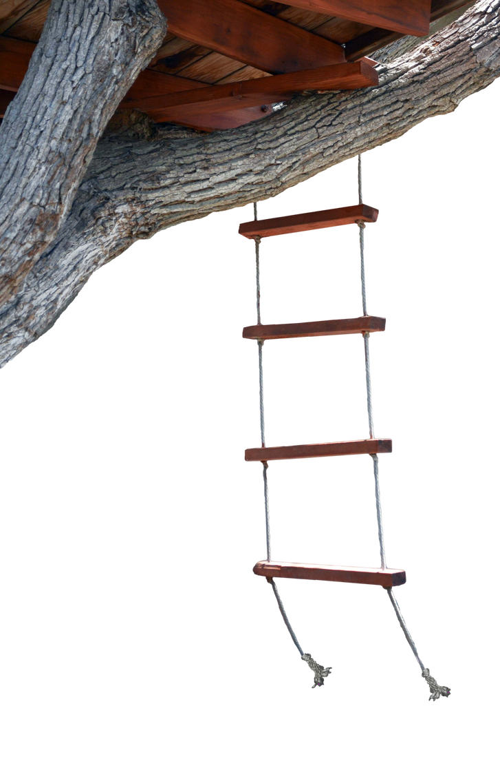 Rope ladder png. Tree house stock photo