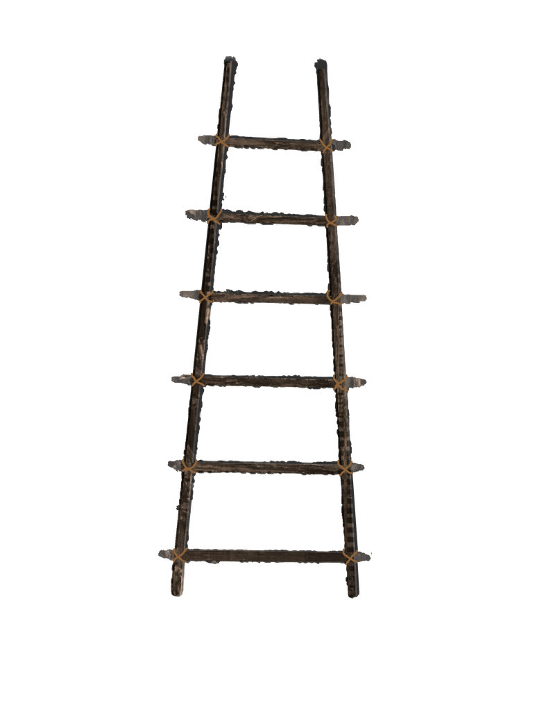 Rope ladder png. Old wooden stock with