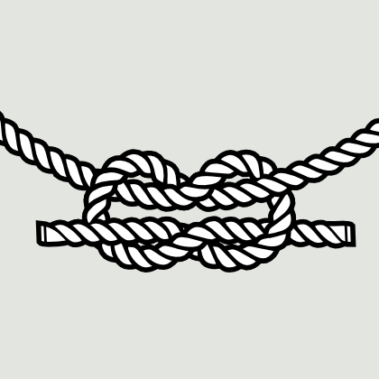 Vector rope in inkscape. Drawing knots charcoal banner black and white