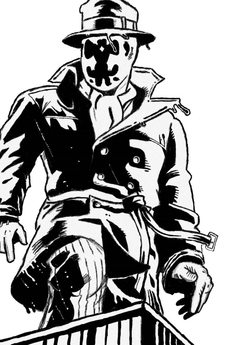 By alwaysacomedian on deviantart. Rorschach drawing vector free