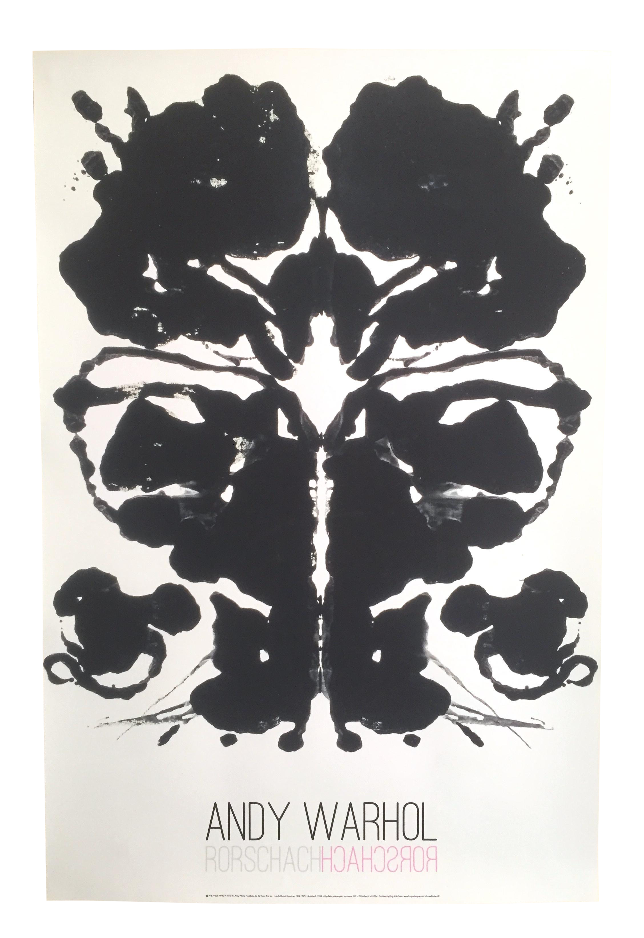 Andy warhol original offset. Rorschach drawing picture freeuse