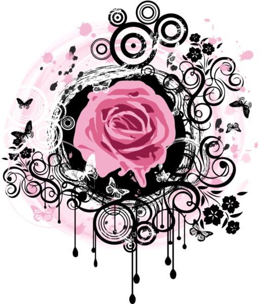 Rosa vector png. Grunge psd official psds