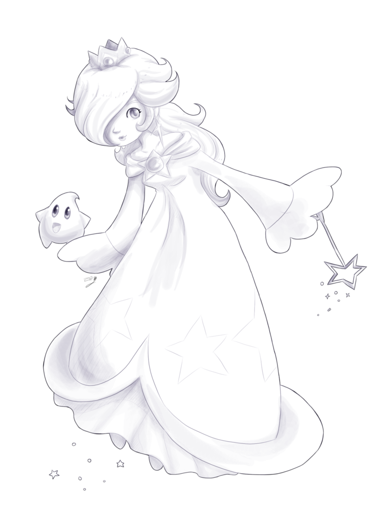 Rosalina drawing. Day by lady of