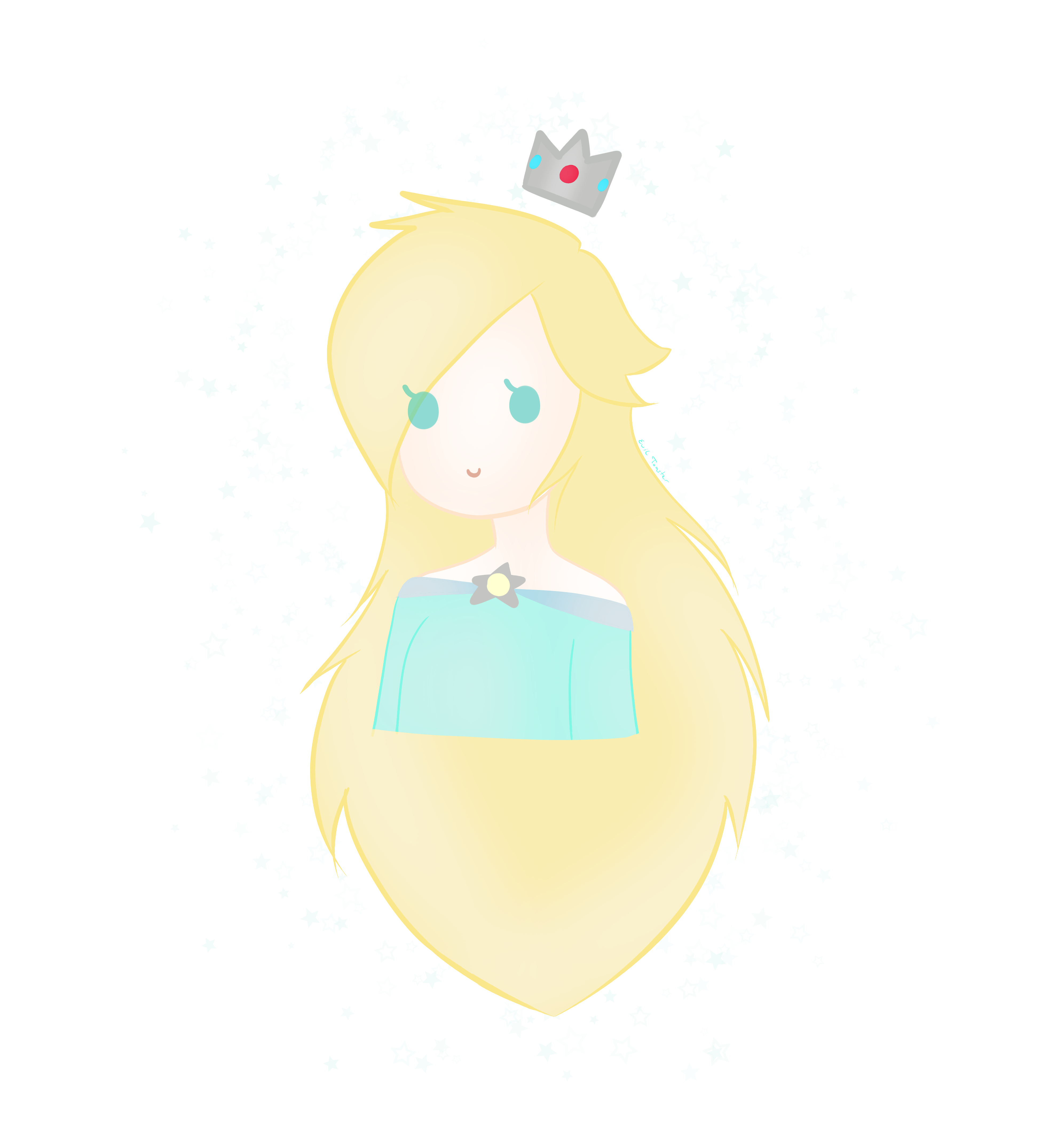 Rosalina drawing cute. Of by toastthecat fur