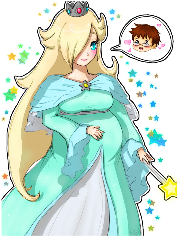 Rosalina drawing smile. Pregnant by tropicalsnowflake on