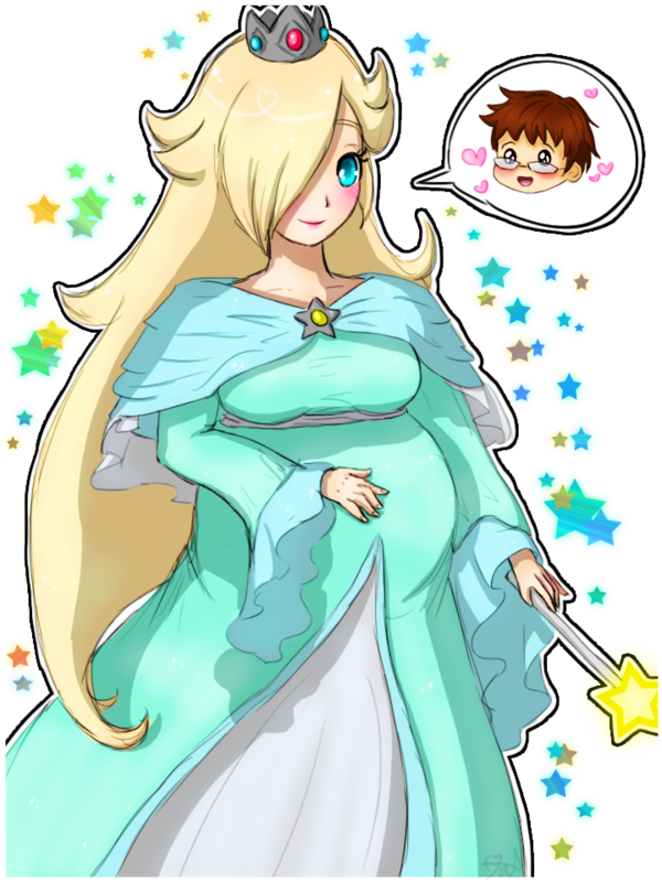 Rosalina drawing anime. Pregnant by tropicalsnowflake on