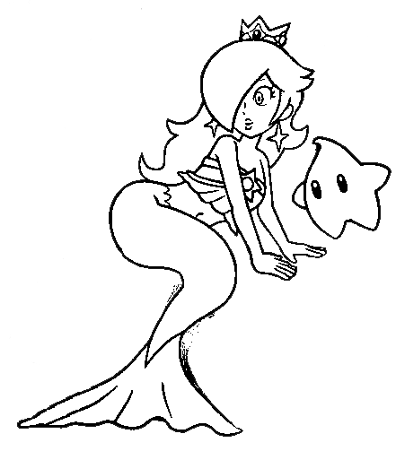 Rosalina drawing coloring page. Pages eskayalitim saveenlarge