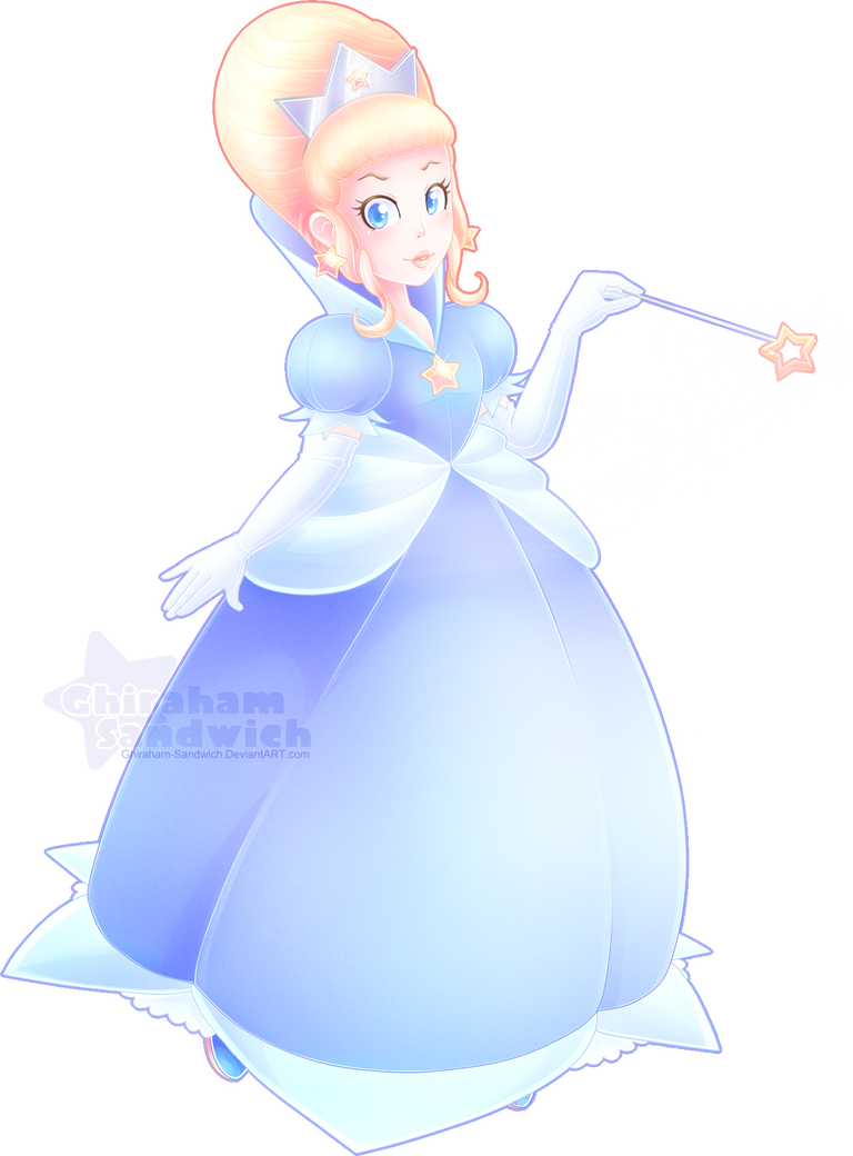Rosalina drawing smile. Early concept design by