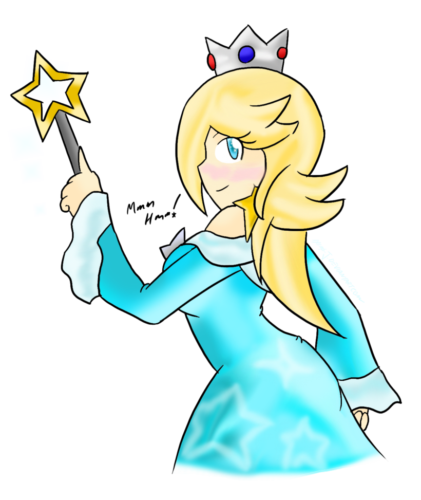 Rosalina drawing family. S side taunt by
