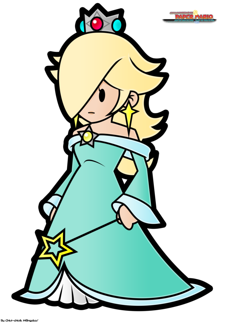 Rosalina drawing family. Marioverse game design project