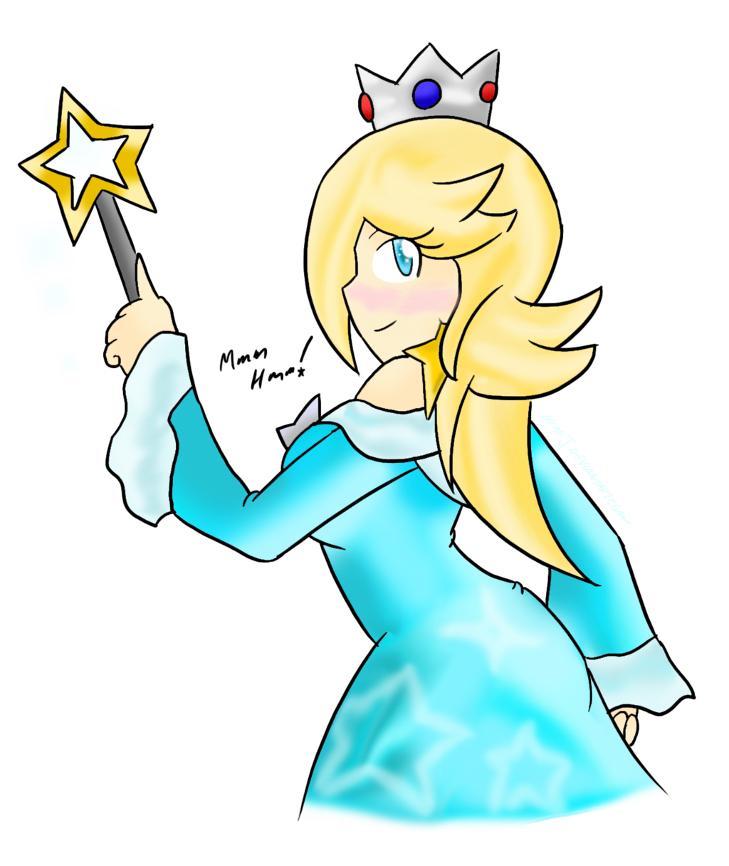 Rosalina drawing outline. S side taunt by