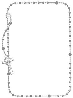 Rosary clipart child. Ms word templates borders