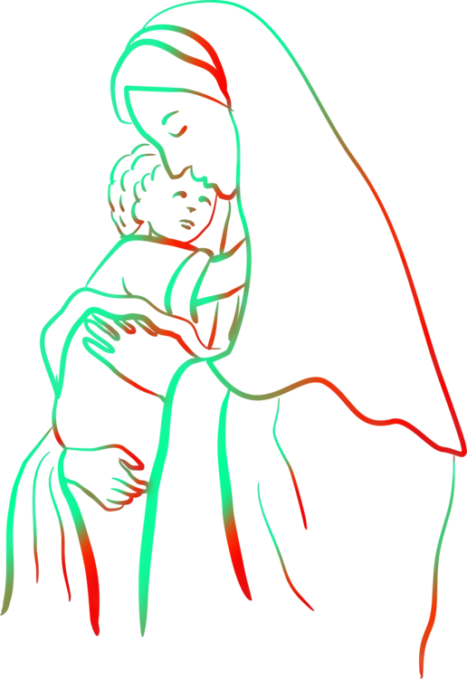 Rosary clipart child. Christ coloring book theotokos