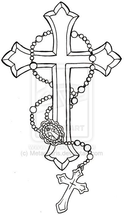 Rosary clipart crucifix. Cross with tattoo by