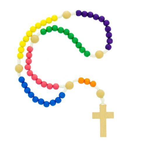 Rosary clipart memorial frame. Wood multi colored children