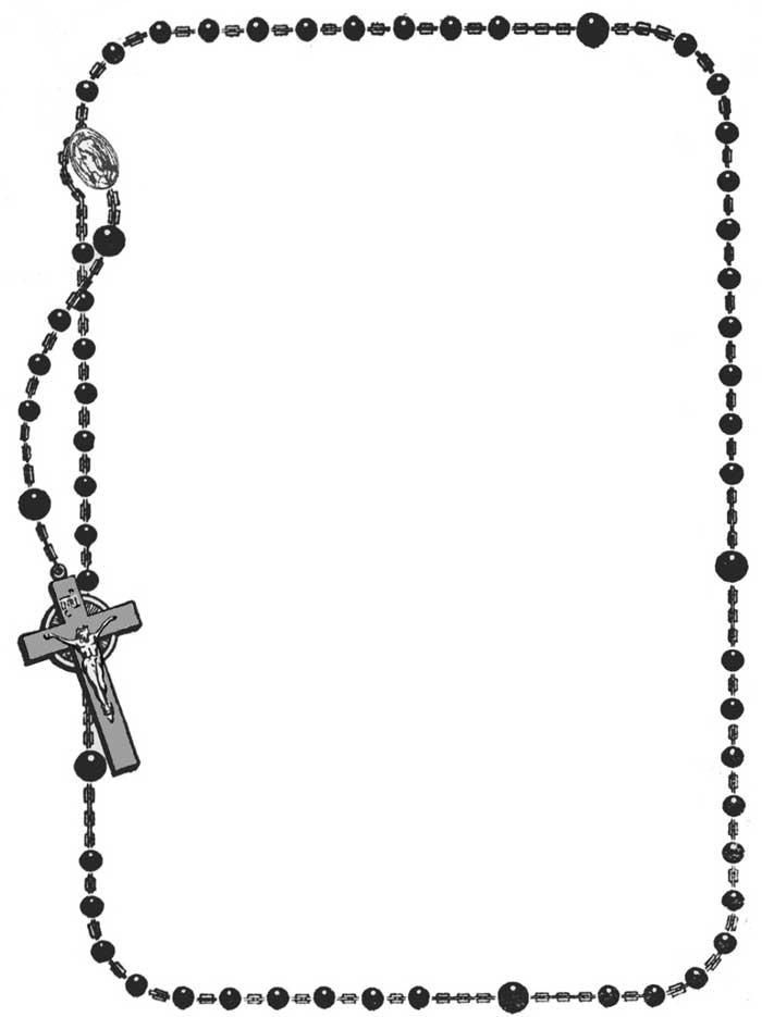 Rosary clipart memorial frame. Best christian borders