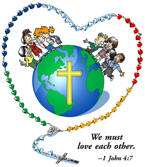 Rosary clipart month. Parish help support saint