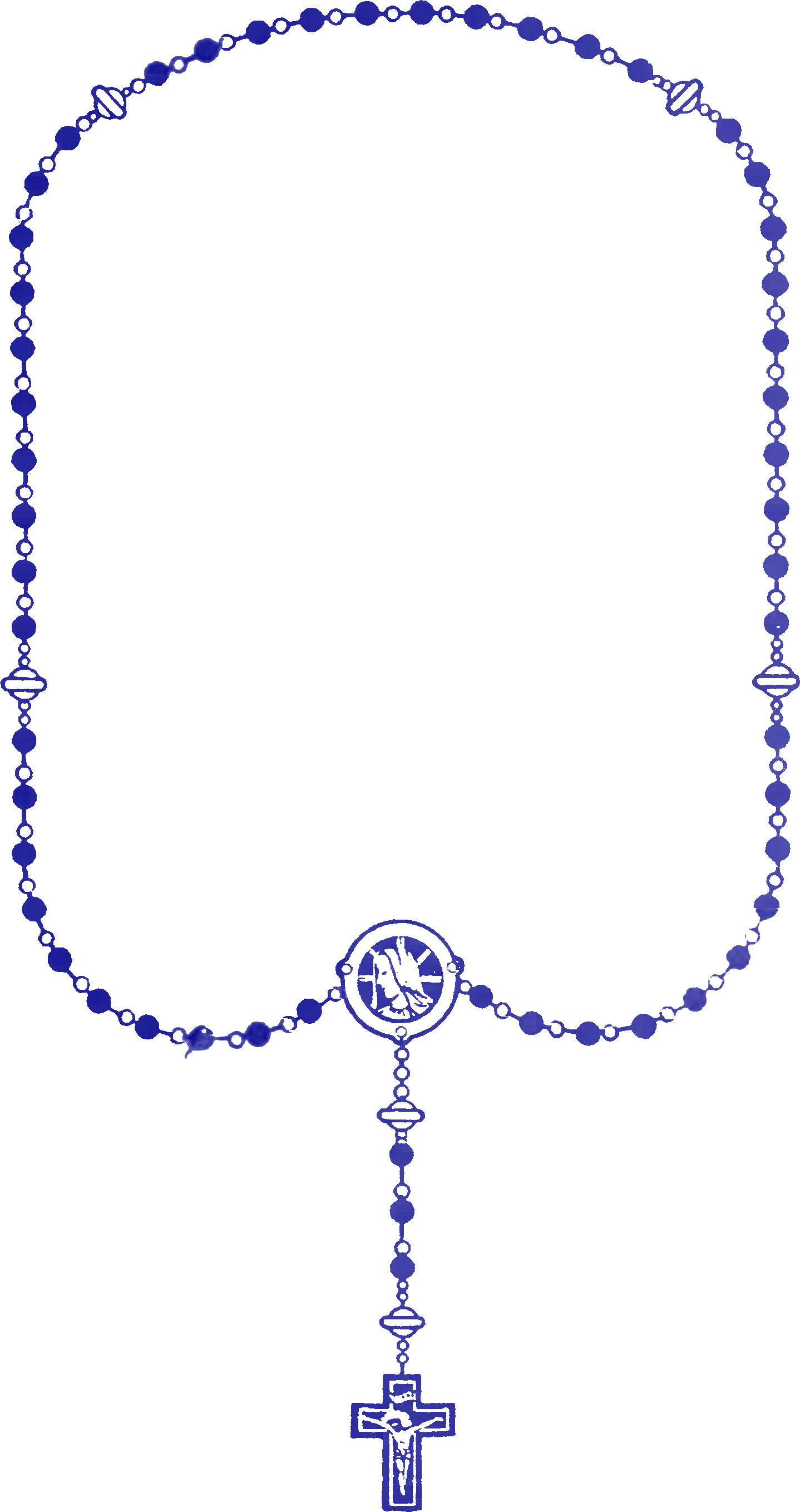 Rosary transparent blue. File png wikimedia commons