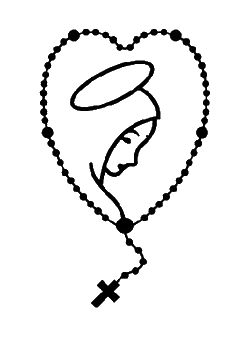 Rosary clipart rosario. Pin by gisele on