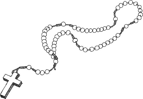 Rosary clipart rosario. Art royalty free beads