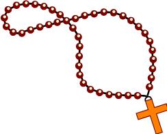 rosary clipart