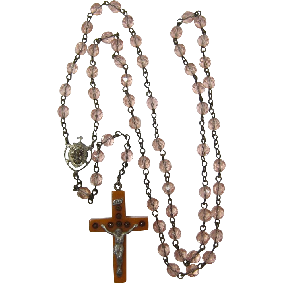 Rosary transparent beads. Last chance rare with