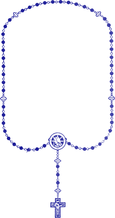 Rosary transparent blue. How to say the