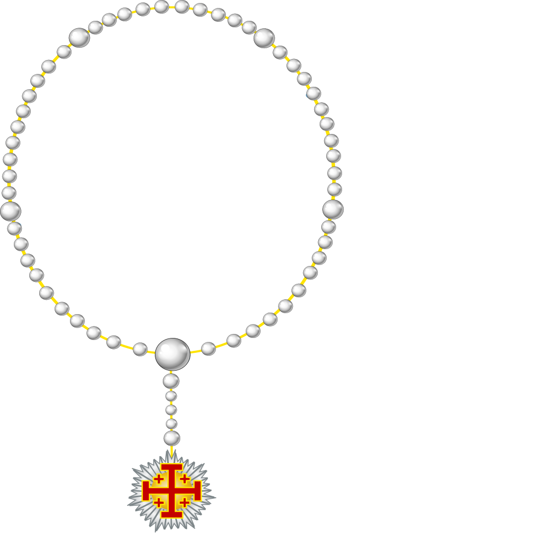 Rosary transparent svg. File herardic of the