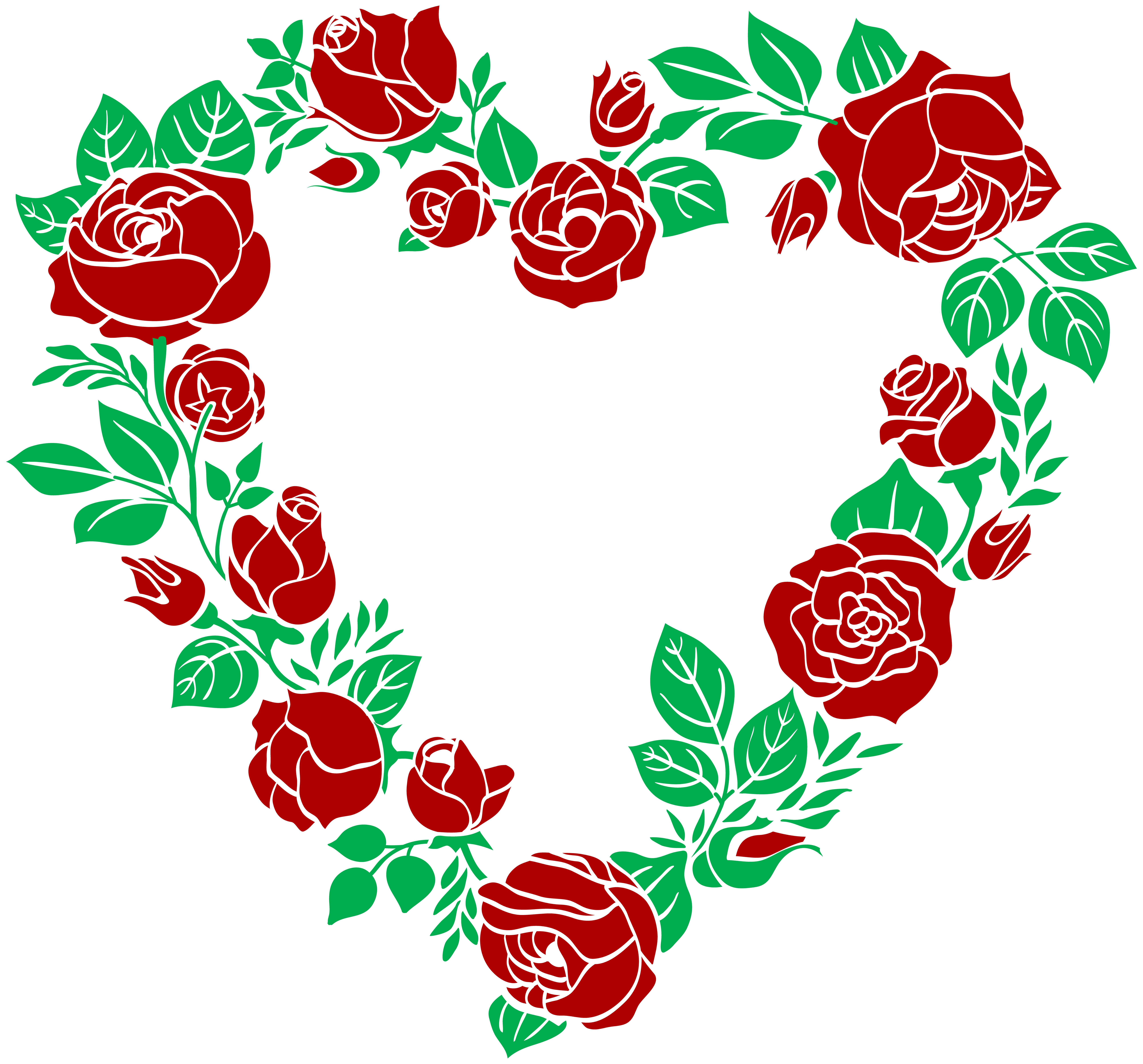 Rose border png. Red heart clip art