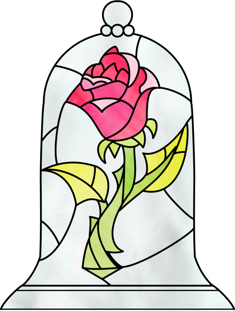Colored drawing beauty and the beast. Rose by dosiguales on