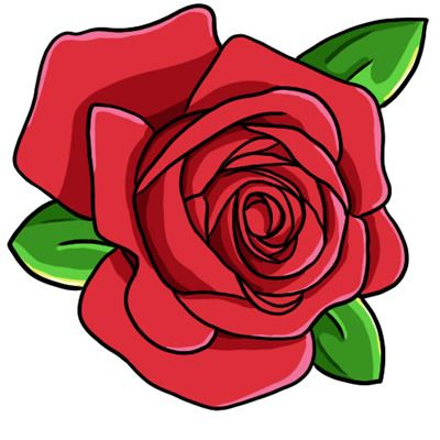 Rose clipart cartoon. Free public domain flower