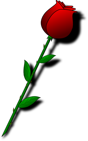 Rose clipart cartoon. Single clip art at