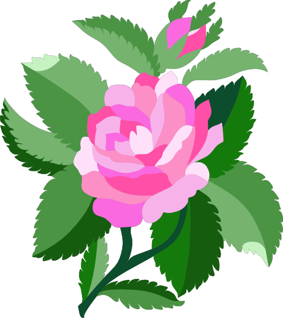 Rose clipart cartoon. Free animations and vectors