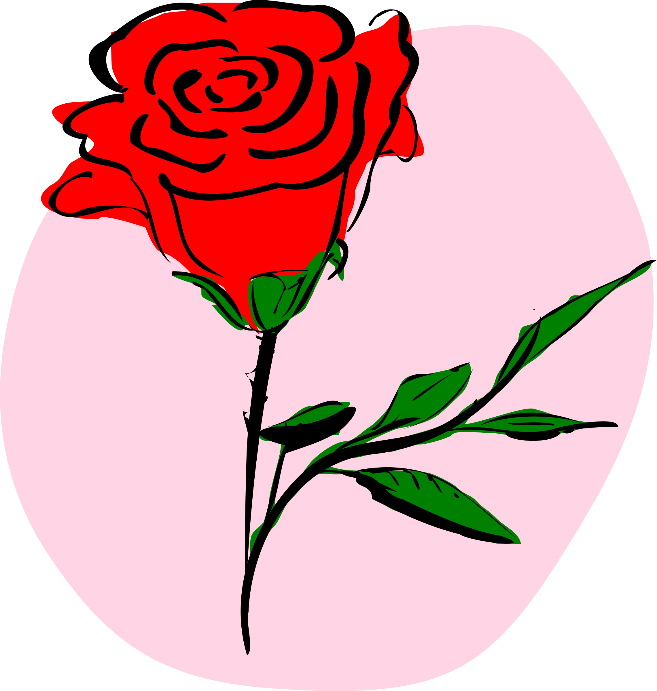 Rose clipart cartoon. Valentines day roses at