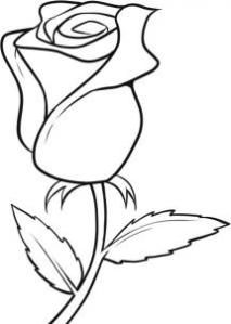 Rose clipart drawn. Easy flowers to draw