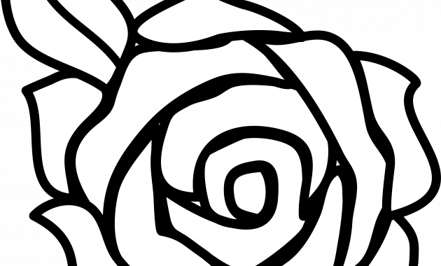 Rose clipart top. Black and white clip