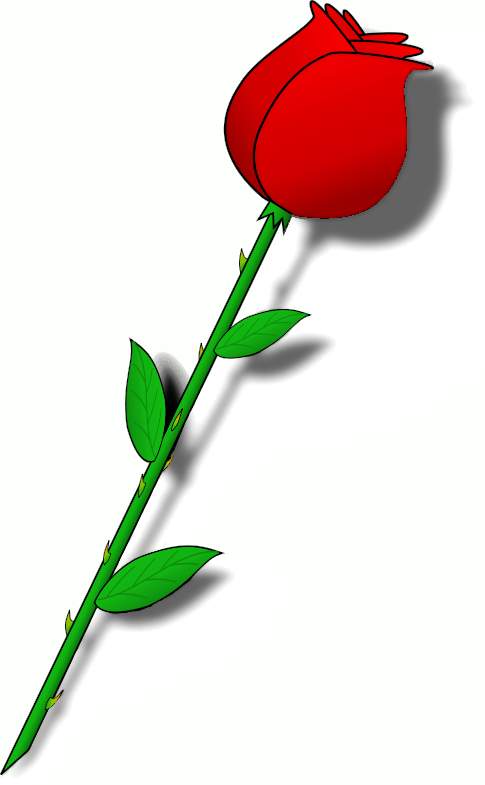Rose clipart top. Beauty and the beast