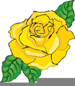 Rose clipart yellow rose. Myspace free images at