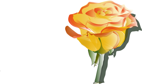 Rose clipart yellow rose. Free art download clip