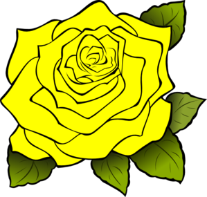 Rose clipart yellow rose. Clip art at clker