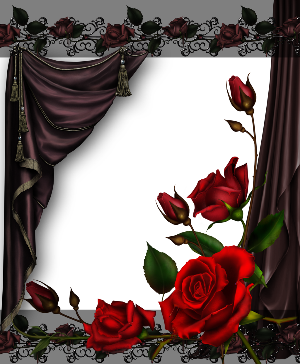 Rose curtains png. And roses by collect