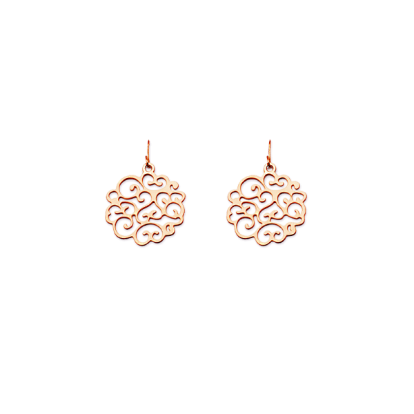 Rose filigree png. Love knot earrings round