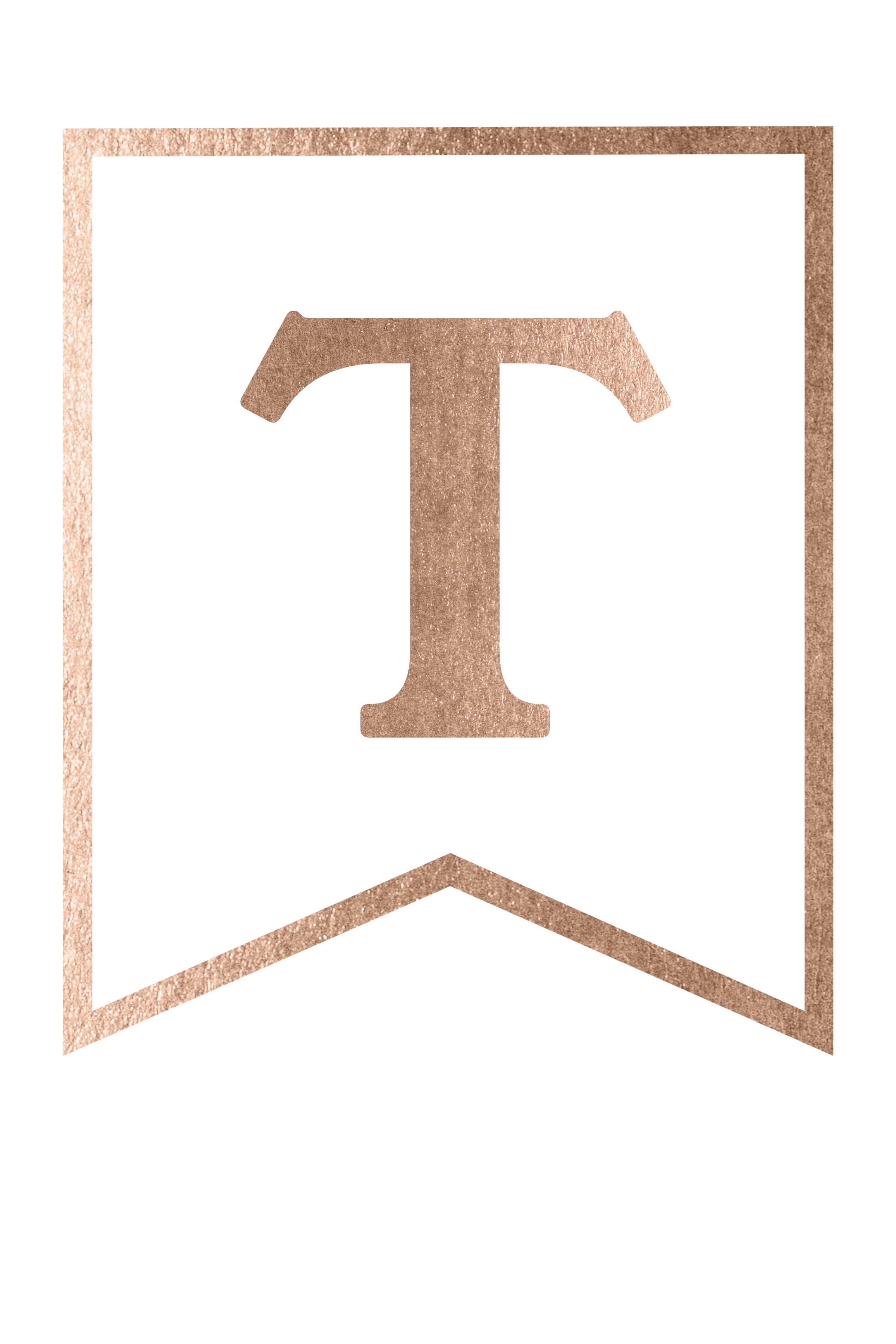 Rose gold banner png. Free printable template paper